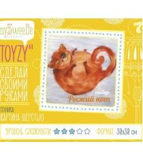 Набор для картин шерстью Toyzy Рыжий кот TZ-P031