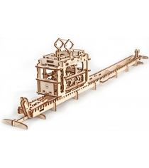 3D Пазл Ugears Трамвай с рельсами 70008