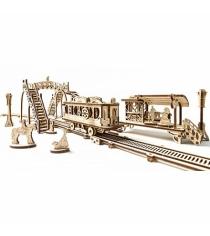 Сборная модель Ugears трамвайная линия 70020
