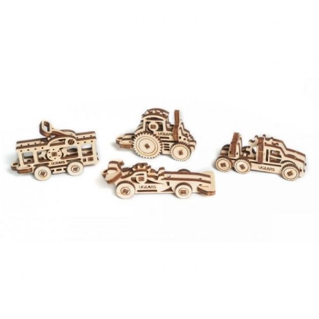 Набор механических 3D пазлов Ugears фиджет транспорт 70033