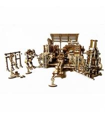 3D пазл Ugears фабрика роботов 70039