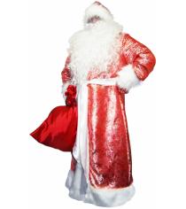 Карнавальный костюм для мальчика Вестифика Дед Мороз жаккардовый красный
