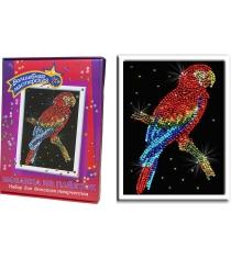 Мозаика из пайеток Волшебная мастерсая Попугай какаду 027