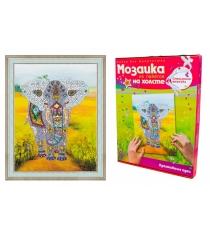 Мозаика из пайеток Волшебная мастерская Слон на холсте МХ-03