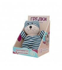 Игрушка грелка Warmies Socky Dolls Кот Куртис SOC-CAT-1