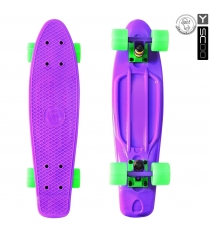 Скейтборд Y-scoo Fishskateboard purple green