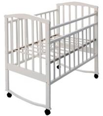 Кроватка качалка АТ Золушка 1 белый