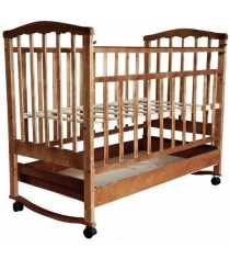 Кроватка качалка АТ Золушка 2 орех