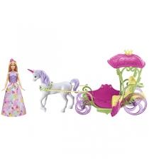 Барби Конфетная карета и кукла DYX31