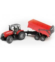 Трактор Massey Ferguson 7480 с прицепом-самосвалом Bruder 02-045