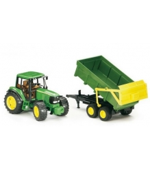 Трактор John Deere 6920 с прицепом Bruder 02-058