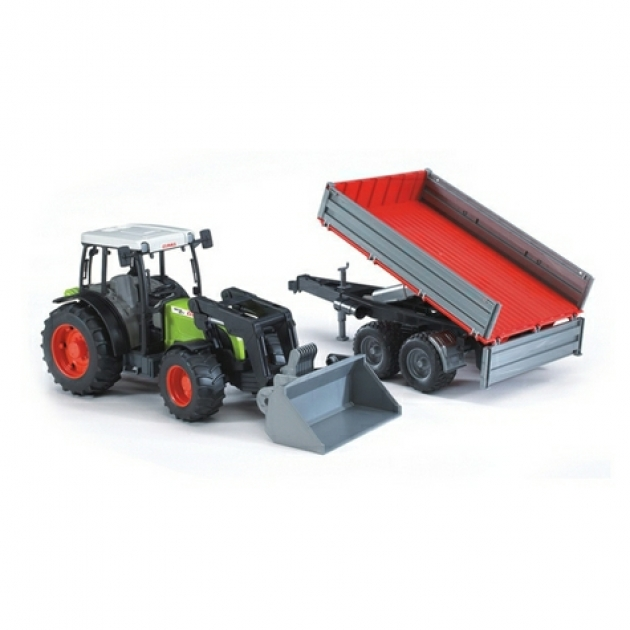 Трактор Claas Nectis 267 F с погрузчиком и прицепом Bruder 02-112