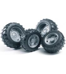 Шины для системы сдвоенных колёс с серебристыми дисками Bruder 02-316...