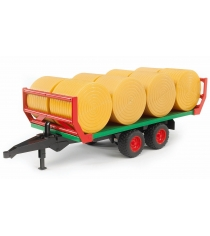 Bruder 02-220 для перевозки рулонов сена с 8 рулонами
