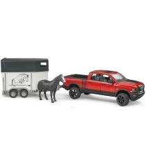 Пикап RAM 2500 c коневозкой и одной лошадкой Bruder 02-501