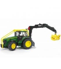 Трактор John Deere 7930 лесной с манипулятором Bruder 03-053