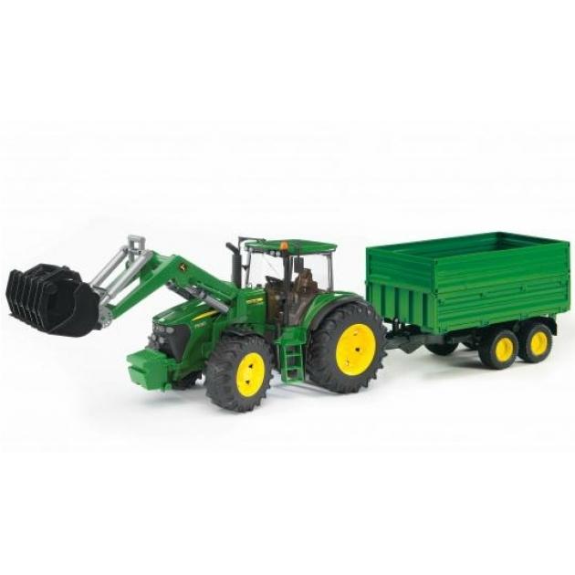 Трактор John Deere 7930 с погрузчиком и прицепом Bruder 03-055