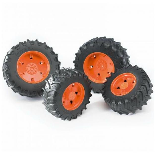 Шины с оранжевыми дисками Bruder 03-302