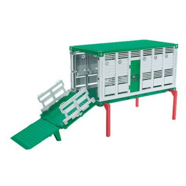 Контейнер bruder с настилом для перевозки скота 03-920