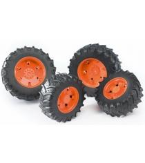 Колеса Bruder с оранжевыми дисками к тракторам серии 3000 03-312...