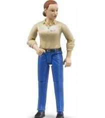 Фигурка женщины Bruder Голубые джинсы 60-408