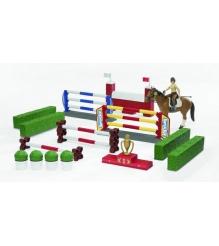 Игровой набор для скачек с фигуркой всадницы и лошадью Bruder 62-530