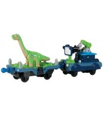 Паровозик Чаггингтон с прицепом с динозавром и камерой LC54075...