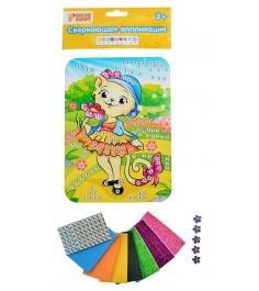 Набор для творчества Color Puppy сверкающая аппликация кошечка...