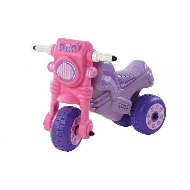 Каталка мото кросс Dohany розовый 111P
