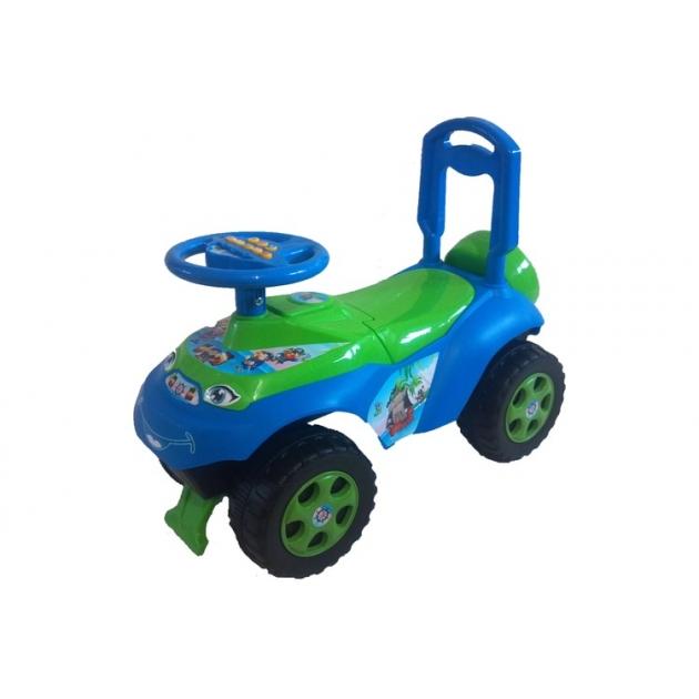 Машинка для катания Doloni Автошка с музыкальным рулем зеленая