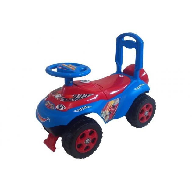Машинка для катания Doloni Автошка с музыкальным рулем синяя