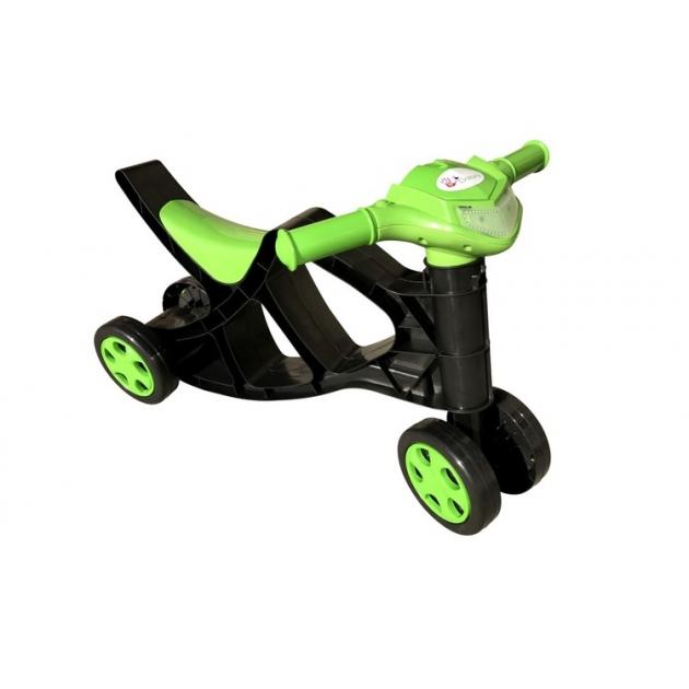 Минибайк для катания Doloni зеленый черный