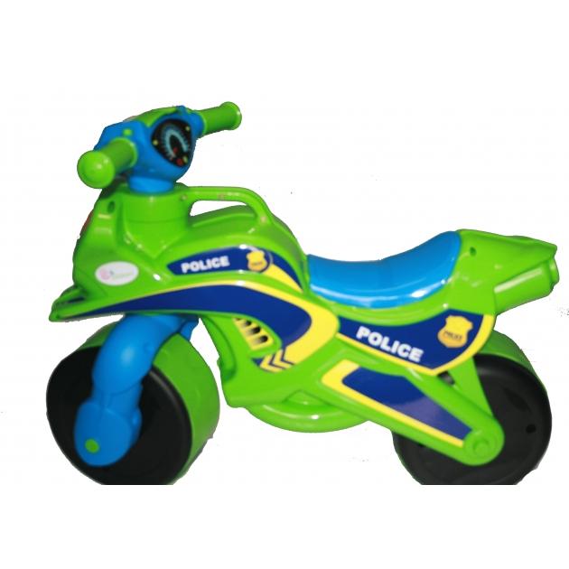 Каталка-толокар Doloni Моторбайк (138) зеленый голубой