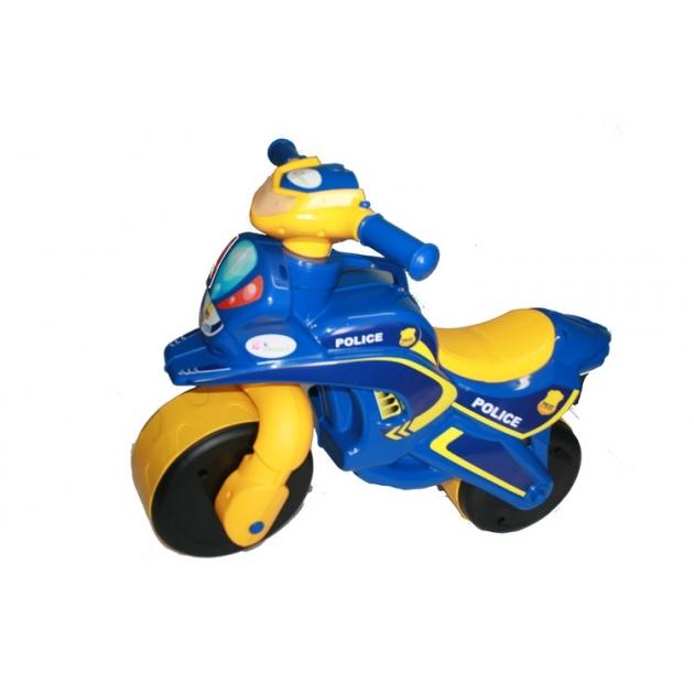 Каталка-толокар Doloni Моторбайк (138) желтый синий