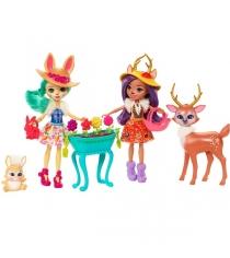 Набор из двух кукол с любимыми зверюшками Enchantimals FDG01