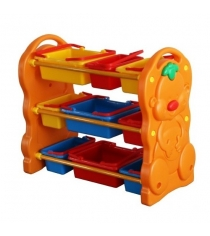Стеллаж для игрушек с ящиками Family F-823