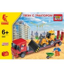 Детский конструктор Город Мастеров Тягач с Трактором BB-8869-R1