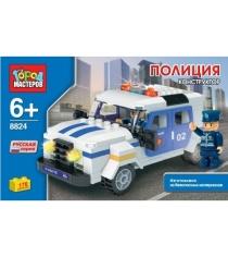 Детский конструктор Город Мастеров Джип Полиция BB-8824-R