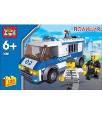 Детский конструктор Город Мастеров Автомобиль для перевозки заключенных с фигурками KK-3001-R