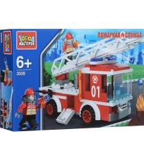 Детский конструктор Город Мастеров Пожарная служба Машина KK-3509-R