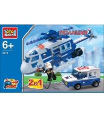 Детский конструктор Город Мастеров Полиция 2в1 вертолет машина с фигуркой UU-3015-R