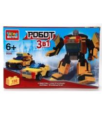 Детский конструктор Город Мастеров Робот машина 3в1 UU-9008-R