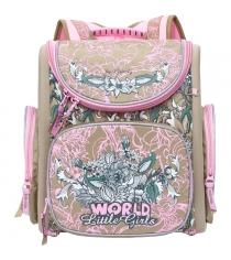 Рюкзак Grizzly RA-771-3 бежевый розовый