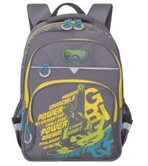 Школьный рюкзак Grizzly RB-731-1 серый