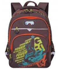 Школьный рюкзак Grizzly RB-731-1 коричневый