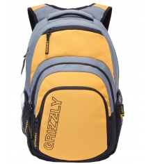 Рюкзак Grizzly RU-704-1 черно желтый