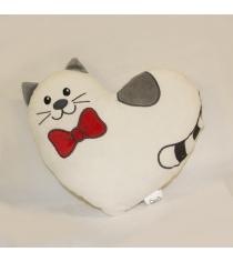 Мягкая игрушка Gulliver Подушка-валентинка Котик Тимур 25 см DT160670-1...