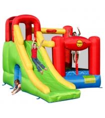 Надувной батут с горкой Happy hop Игровой центр 6 в 1 9060