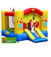 Надувной батут с горкой Happy hop Забавный клоун 9201