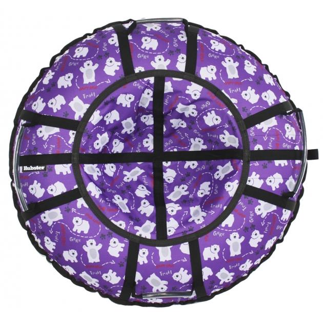 Тюбинг Hubster Люкс Pro Мишки фиолетовые 110 см